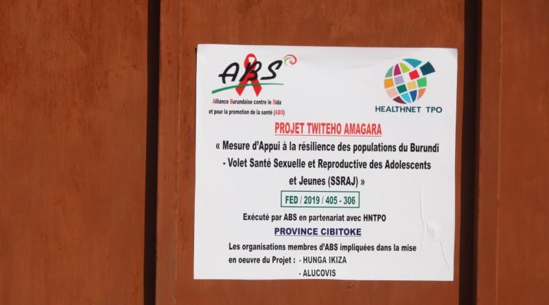 Présentation de l'équipe du Projet TWITEHO AMAGARA  dans la province de Cibitoke