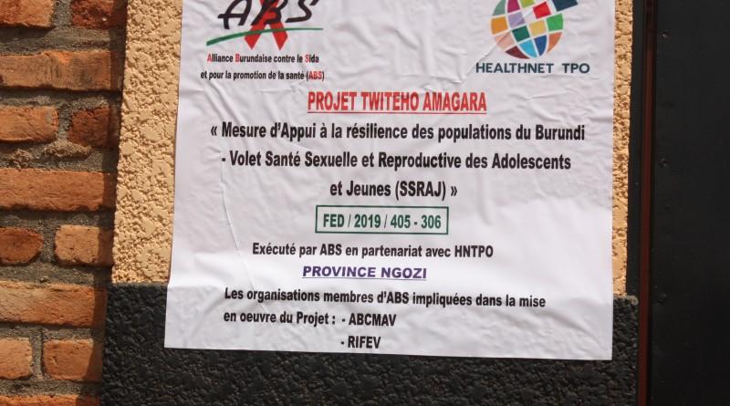 le projet  TWITEHO AMAGARA sera réalisé aussi à Ngozi avec une autre équipe